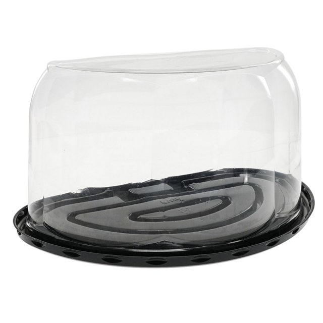 "5.75"" DOME & BLK BASE FOR  1/2 RND CAKE"