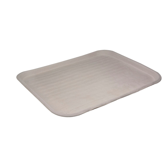 "14"" x 18"" Fiber Blend Cafeteria Tray, Natural, 100 ct."