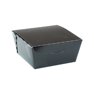 "#1, 4.5"" X 4.5"" X 2.5"", 37 oz. OneBox® Black Paper Box, 456 ct."