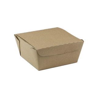 "#1, 4.5"" X 4.5"" X 2.5"", 37 oz. OneBox® Paper Kraft Box, 456 ct."