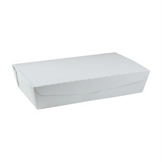 "#2, 9.0"" X 4.85"" X 2.0"", 55 oz. OneBox® White Paper Box, 100 ct."