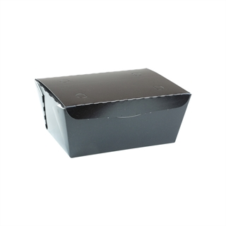 "#3, 6.5"" X 4.5"" X 3.25"", 66 oz. OneBox® Black Paper Box, 160 ct."
