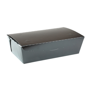"#4, 9"" X 4.85"" X 2.7"",  77 oz. OneBox® Black Paper Box, 162 ct."