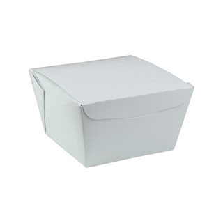 "#8, 4.5"" X 4.5"" X 3.25"",  46 oz. OneBox® White Paper Box, 200 ct."
