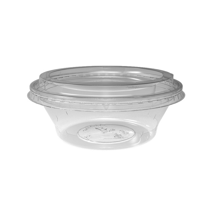 8 oz. Deli2Go™ Plastic Microwavable Side Container Base, Natural, 900 ct.