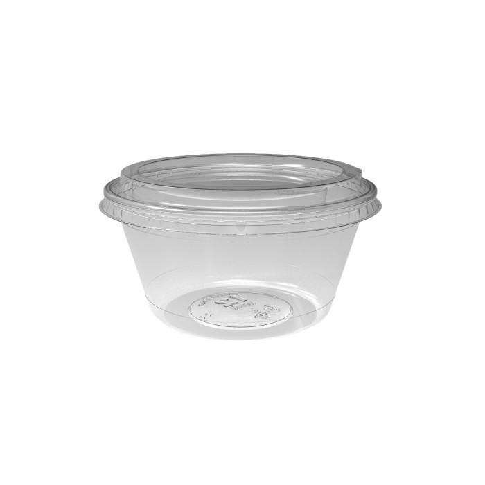 12 oz. Deli2Go™ Plastic Microwavable Side Container Base, Natural, 900 ct.