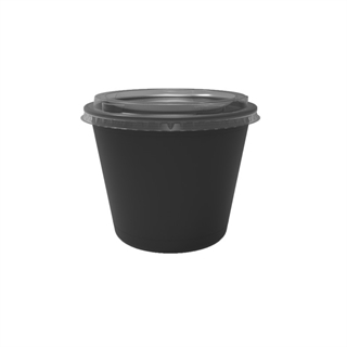 20 oz. Deli2Go™ Plastic Microwavable Side Container Base, Black, 900 ct.