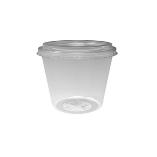 20 oz. Deli2Go™ Plastic Microwavable Side Container Base, Natural, 900 ct.