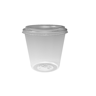 24 oz. Deli2Go™ Plastic Microwavable Side Container Base, Natural, 450 ct.