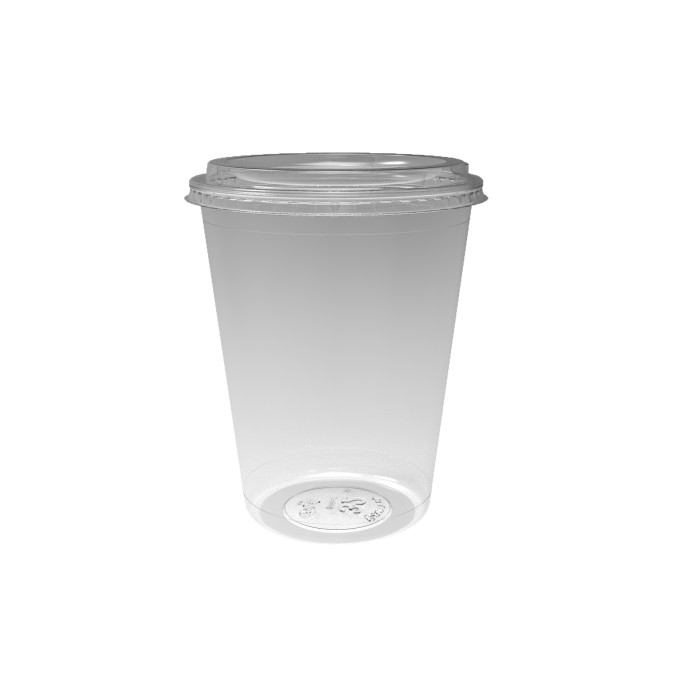 32 oz. Deli2Go™ Plastic Microwavable Side Container Base, Natural, 450 ct.