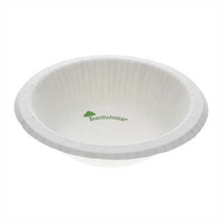 12 oz Compostable Pressware Paper Bowl, Printed White, 750 ct.