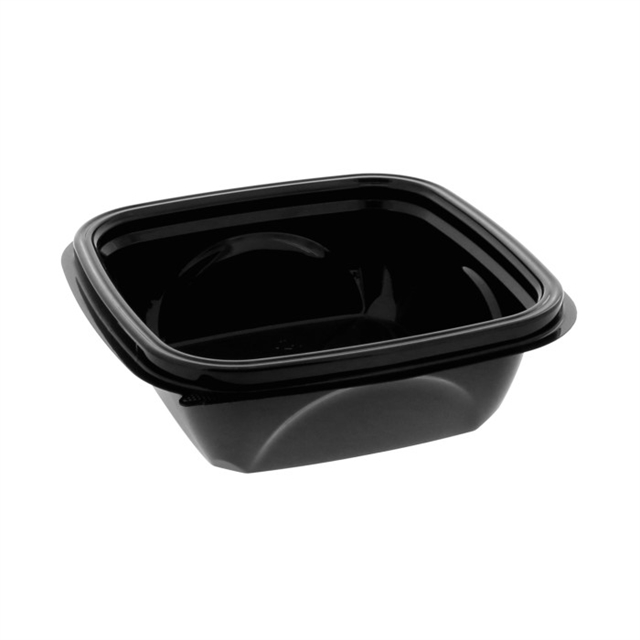 "12 oz 5"" x 5"" Blk Square Bowl Base"