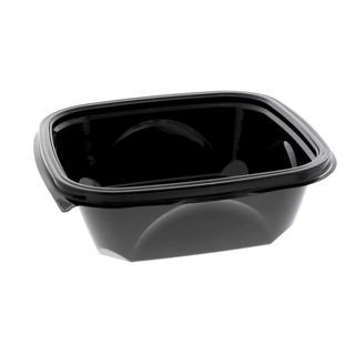 "32 oz 7"" x 7"" Blk Square Bowl Base"
