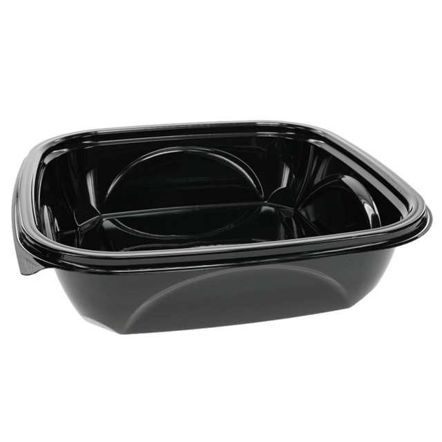 "48 oz 9"" X 9"" Blk Square Bowl Base"
