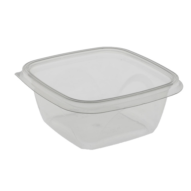 "16 oz 5"" x 5"" Clear Square Bowl Base"