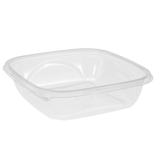 "48 oz 9"" X 9"" Clear Square Bowl Base"