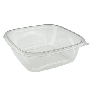 "64 oz 9"" X 9"" Clear Square Bowl Base"