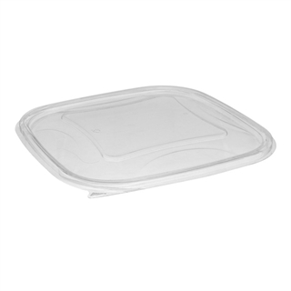 48-64oz 9x9 Clear Square Bowl Flat Lid