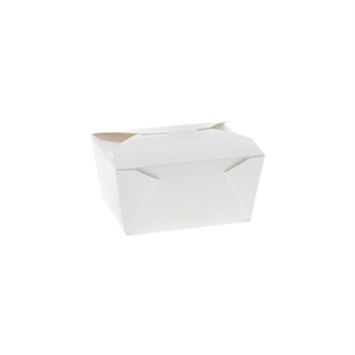 "#1, 5"" x 4.5 "" x 2.5"" OneBox Paperboard Container, White, 495 ct."