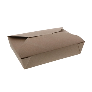 "#2, 8.5"" x 6.25 "" x 1.9"" 100% Recycled Paper Kraft Box, 200 ct."