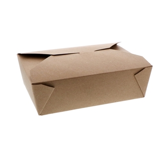 "#4, 6"" x 8"" x 3"" 100% Recycled Paper Kraft Box, 100 ct."