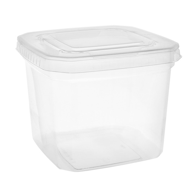 "SQUARE TUB 6.5"" DEEP & LID"