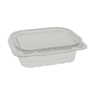 8 oz Tamper Evident Recycled Plastic Hinged Deli Container, Clear, 320 ct.