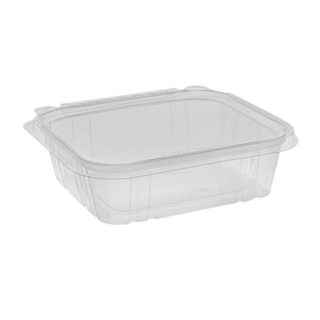 24 oz Tamper Evident Recycled Plastic Hinged Deli Container, Clear, 231ct.