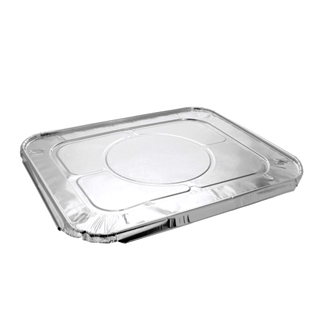 Half-Size Aluminum Steam Table Cover Flat, Silver, 100 ct.