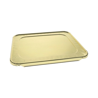 Half-Size  Aluminum Steam Table Cover Flat, Gold, 100 ct.