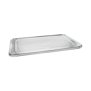 Full-Size Aluminum Steam Table Cover Flat, Silver, 80 ct.