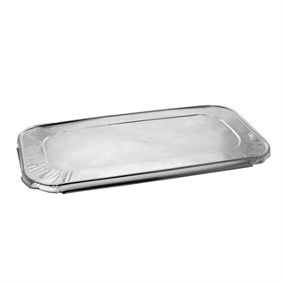 Third-Size Aluminum Steam Table Cover Flat, Silver, 200 ct.