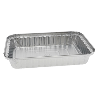 1 1/2 lb. 25 oz. Oblong Aluminum Takeout Container, 400 ct.
