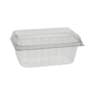 1LB APET HINGED BERRY BASKET 400/CS