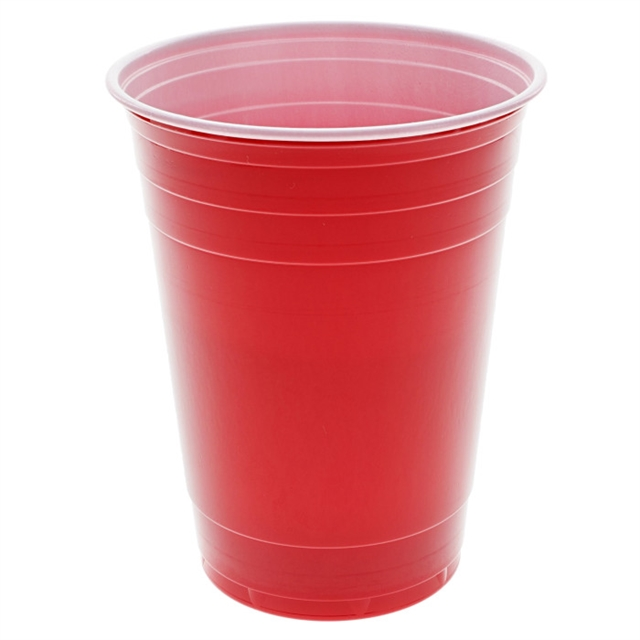 16 OZ COEXT RED WHITE CUPS 12-75 BG