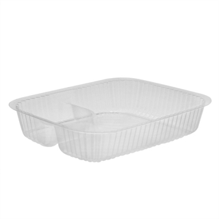 OPS Nacho 2-Compartment Large Tray Clear
