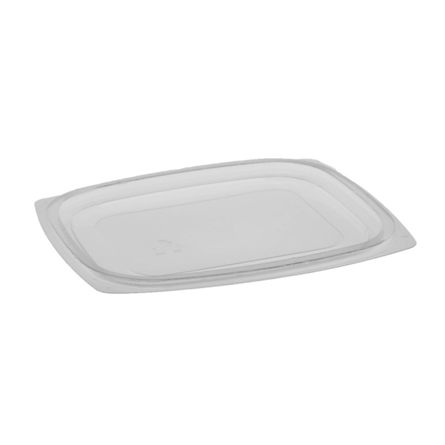 OPS DELI SML FLAT LID FOR 8 & 12OZCLEAR