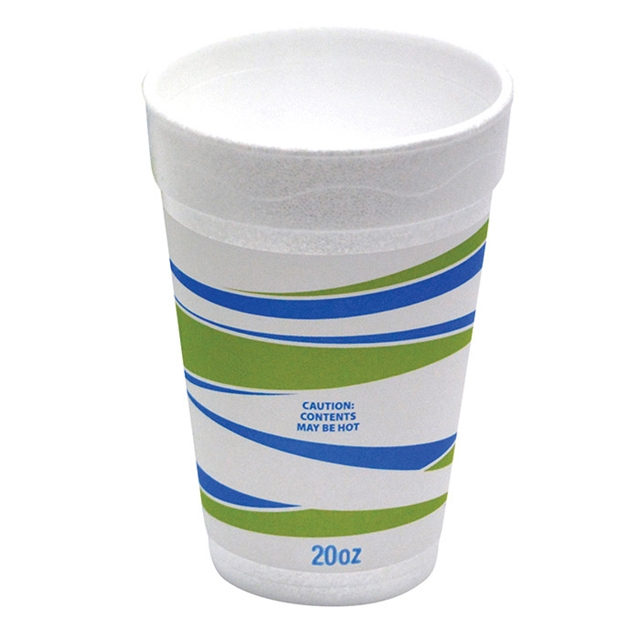 20OZ EPS FOAM PRT CUP SYSCO TRNDZ 20-25