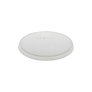Flat Non-Vented Clear Q Lid 10-100