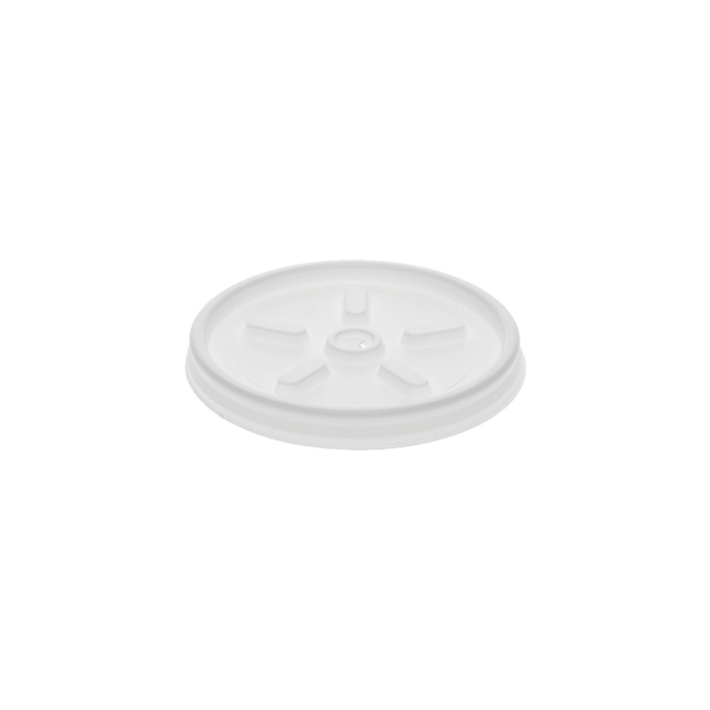 Vented White  Hot Cup F lid 10-100