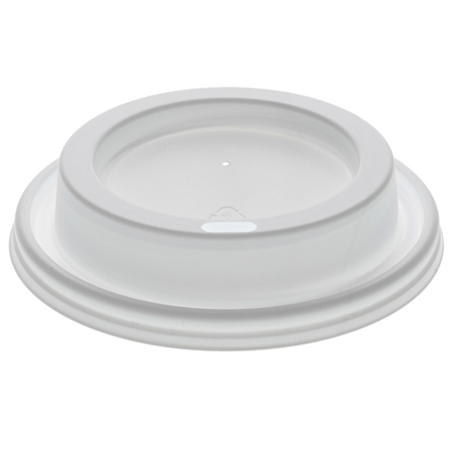 WHT DOME HOT LID FOR FB EPS CUP 10-100