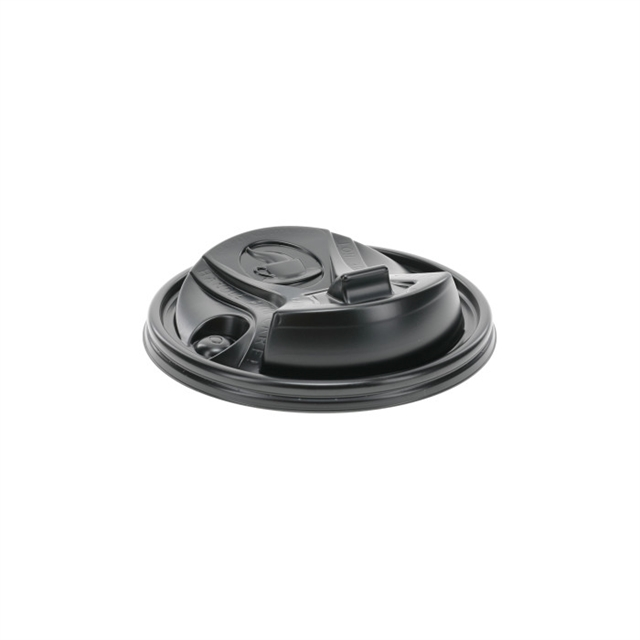 Reclosable Black Hot Cup B Lid 10-100