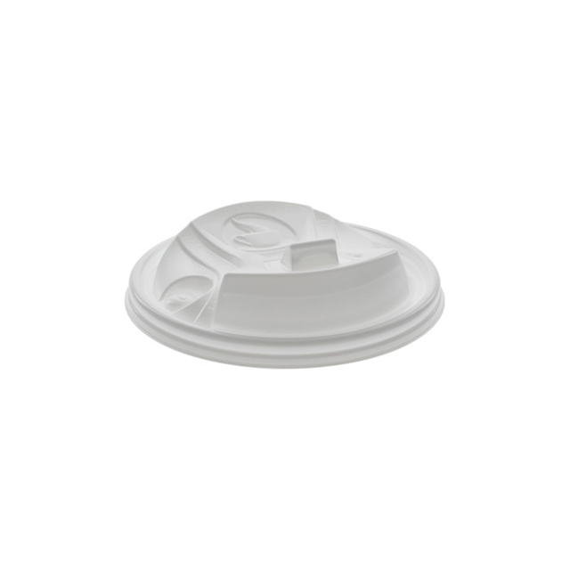 Reclosable White Hot Cup B Lid 10-100