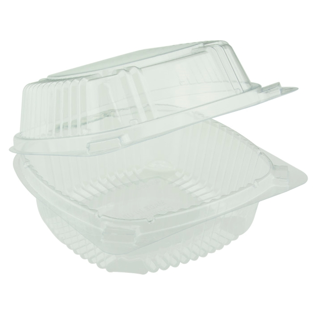 6 x 6 PLA Hinged Lid Container
