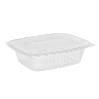 24 oz Compostable Deli Container With Lid (Combo), Clear, 200 ct.
