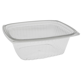 32 oz Compostable Deli Container With Lid (Combo), Clear, 180 ct.
