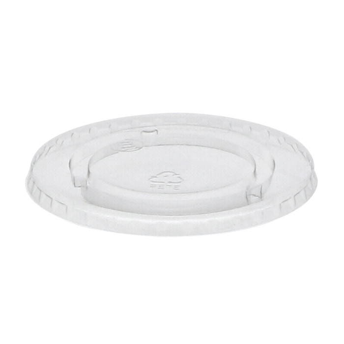 Recycled Plastic Flat Lid No Straw Slot for 24 oz. RPET Cup, Clear, 1,020 ct.
