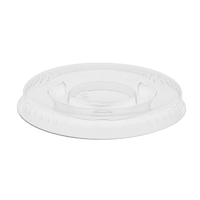 1 oz. Recycled Plastic Flat Lid, Clear, 2,500 ct.