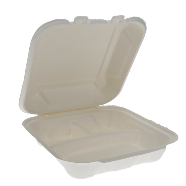EARTHCHOICE 8 X 8 - 3 CMPT BAGASSE DUAL