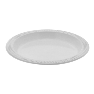 6  PLASTIC PLATE MW WHITE  sc 1 st  Tabletop & Tabletop
